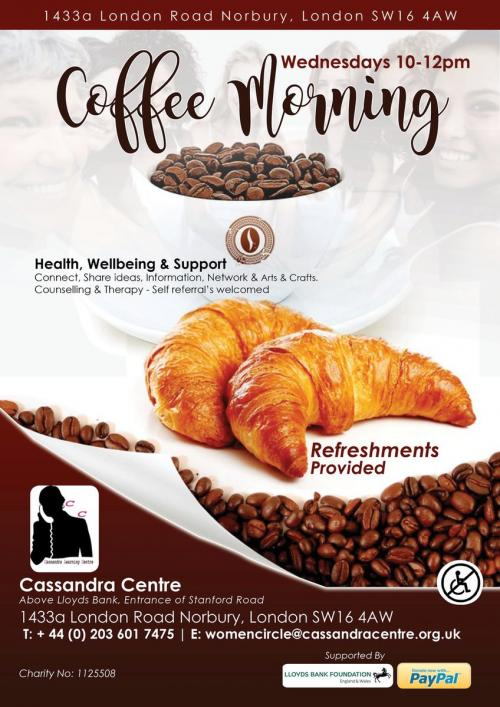 Cassandra Centre Coffee Morning Whats On In Norbury